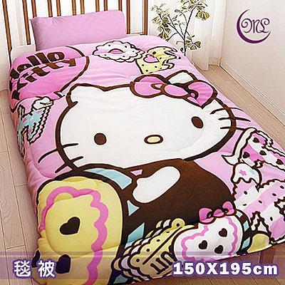 名流寢飾 Hello Kitty甜點手作坊毛毯被 150*195cm