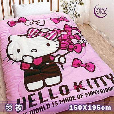 名流寢飾 Hello Kitty蝴蝶飄飄樂毛毯被 150*195cm
