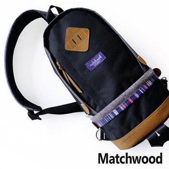 MATCHWOOD Bilayer bag 民俗風腰包 -黑色