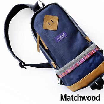MATCHWOOD Bilayer bag 民俗風腰包 -藍色