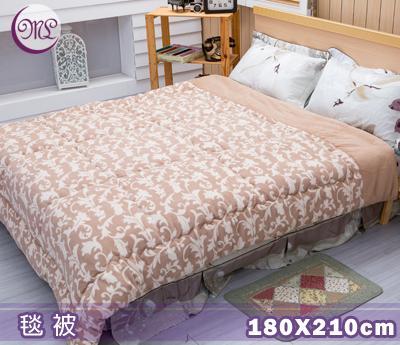名流寢飾 鳳葉情深超柔毛毯被 180*210cm