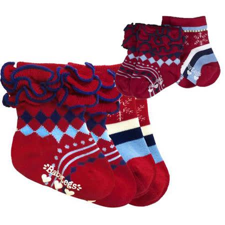 美國 BabyLegs 有機棉嬰幼兒小襪子(歡樂小紅)
