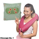 【輕鬆大師】全方位揉捏肩頸+靠墊超值組(抹茶綠)