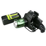 【KINYO】充電式800流明鋁合金LED頭燈(LED-618)