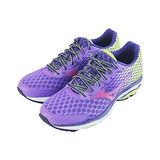 (女)MIZUNO美津濃 WAVE RIDER 18 慢跑鞋  紫/螢光黃-J1GD150359