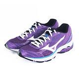(女)MIZUNO美津濃 WAVE CONNECT 慢跑鞋 紫/白/藍-J1GD144805