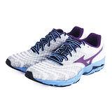 (女)MIZUNO美津濃 WAVE SAYONARA 慢跑鞋 白灰/藍/紫-J1GD143010