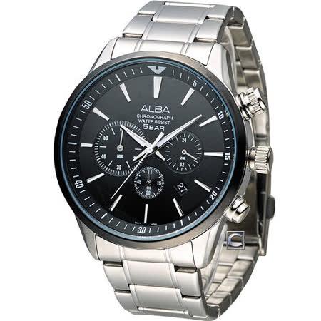 雅柏錶 ALBA 時尚新地圖計時腕錶 VD53-X172D AT3631X1