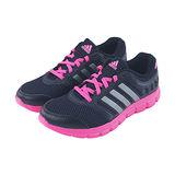 (女)ADIDAS BREEZE 101 2 W 慢跑鞋 黑/桃紅-M18410