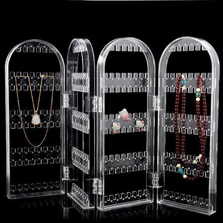 透明水晶屏風式飾品架