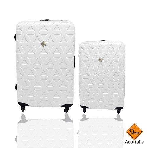 Gate9花happy go 愛 買花系列ABS霧面行李箱28+20吋兩件組