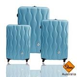 Gate9☢波西米亞系列~ABS霧面三件組旅行箱▷▷土耳其藍