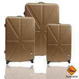 Gate9 米字英倫系列經典輕硬殼行李箱三件組