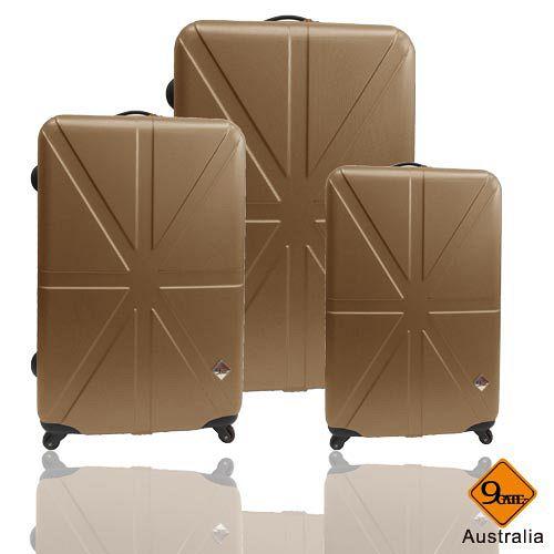 Gate9 米字英倫愛 買 購物 網系列經典輕硬殼行李箱三件組