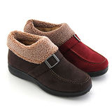 【Pretty】質感絨布反摺內增高短靴