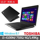 TOSHIBA R30-A-00L002 13.3吋 i3-4100M WIN8.1 輕薄筆電(黑)【贈原廠筆電包+原廠滑鼠】