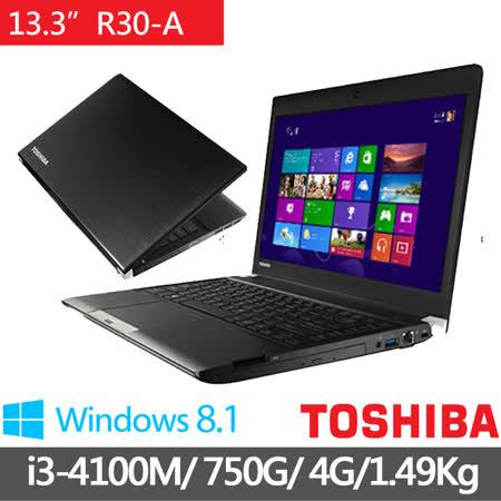 TOSHIBA R30-A-00L002 13.3吋 i3-4100M WIN8.1 輕薄筆電(黑)★贈原廠筆電包+原廠滑鼠