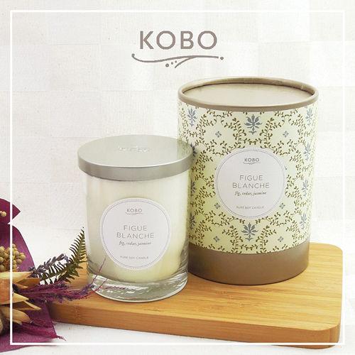 【KOBO】美國大豆精油蠟燭 - 純淨無花果 (330g/可燃燒80hr)