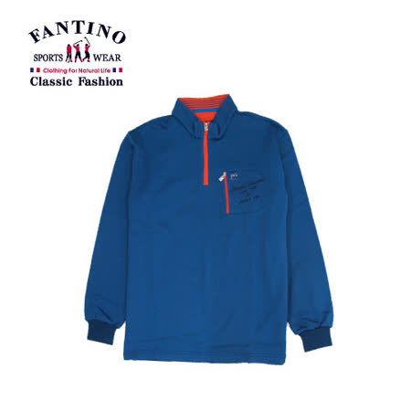 【FANTINO】男裝 獨家品牌刺繡休閒polo衫(藍)341310