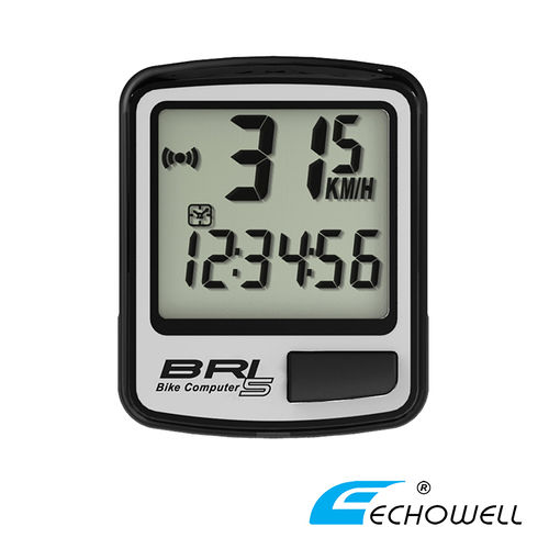 ECHOWELL BRI-5 多功能自行車有線碼錶 銀