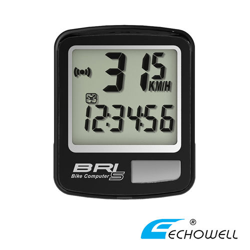 ECHOWELL BRI-5 多功能自行車有線碼錶 黑