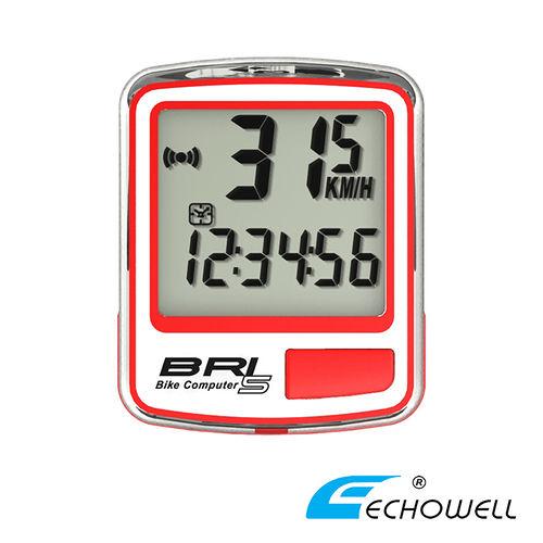 ECHOWELL BRI-5 多功能自行車有線碼錶 紅
