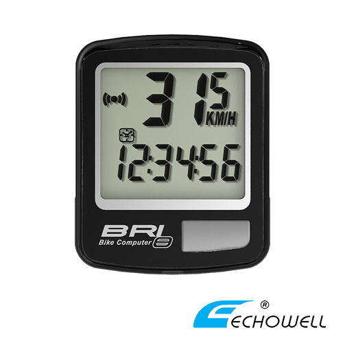 ECHOWELL BRI-8 多功能自行車有線碼錶 黑