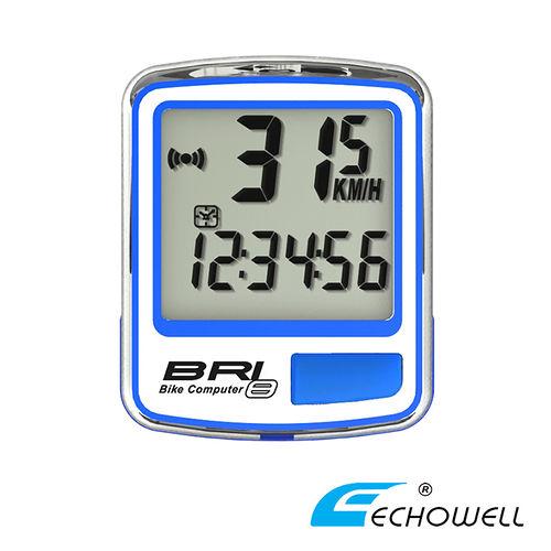 ECHOWELL BRI-8 多功能自行車有線碼錶 藍