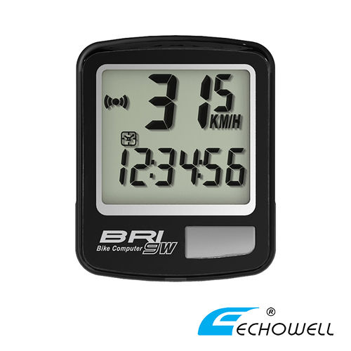 ECHOWELL BRI-9W 多功能自行車無線碼錶 黑