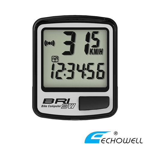 ECHOWELL BRI-9W 多功能自行車無線碼錶 銀
