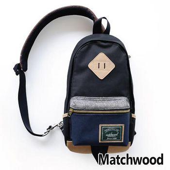 MATCHWOOD Infantry 單肩 背包 腰包 -黑藍