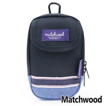 MATCHWOOD Multi Case 手機腰包 掛包 -丹寧x黑