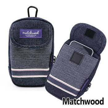 MATCHWOOD Multi Case 手機腰包 掛包 -丹寧條紋