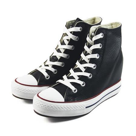 (W系列)CONVERSE Chuck Taylor All Star Platform Plus 帆布鞋 黑/白-544926C
