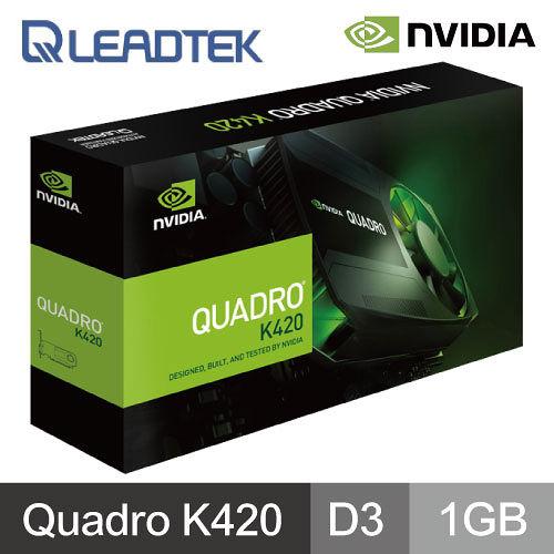 麗臺 Quadro K420 工作站繪圖卡