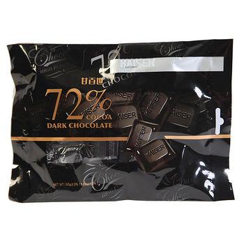 甘百世袋裝72%黑巧克力165g