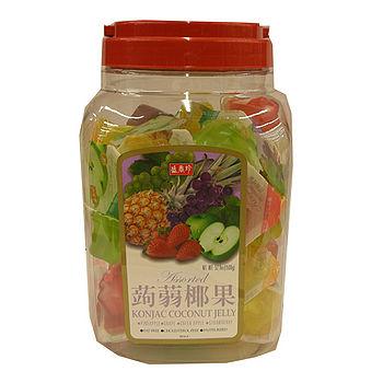 盛香珍蒟蒻椰果果凍桶-綜合口味1500g