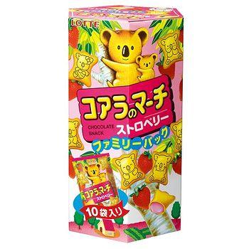樂天小熊餅乾家庭號-草莓口味195g