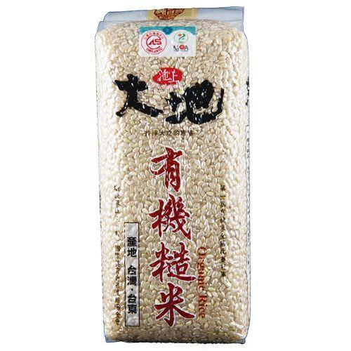池上大地有機糙米1.5kg