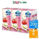 《福樂》蘋果牛奶200ml*6瓶