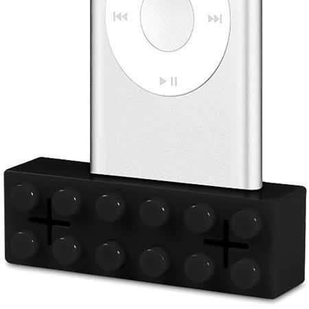 【Homade】iPod 專用小喇叭 (黑)~ 趣味的積木造型