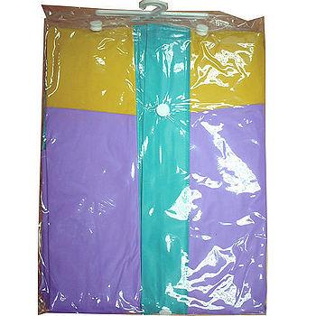EXTRA前開式PVC雨衣118cm±3%(紫XL)
