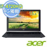 ACER VN7-591G-72MZ 15.6吋 i7-4720HQ 256SSD GTX860 2G獨顯 4K畫質UHD螢幕旗艦級筆電 -加送羅技無線滑鼠