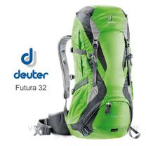 【德國 Deuter】 Futura 32 32L+4L 網架透氣健行登山背包.休閒旅遊.自助旅行背包.後背包.戶外露營_綠/灰 34254(原34251)
