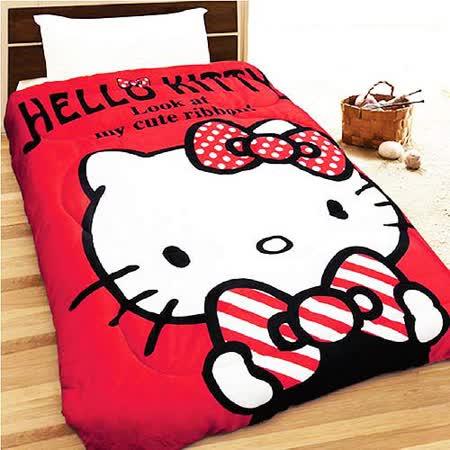 【朴蜜兒】Hello Kitty法蘭絨毯被