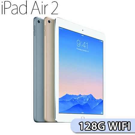 Apple iPad Air 2 Wi-Fi 128GB 平板電腦【送觸控筆+防塵塞+擦拭布+捲線器+支架+保護貼】