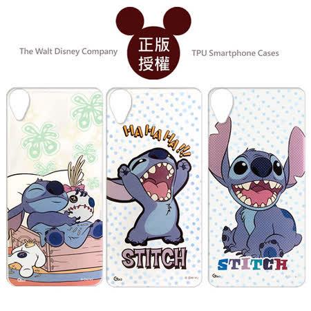 迪士尼授權正版 Disney HTC Desire 820 D820u 透明彩繪軟式保護殼 手機殼(史迪奇款)