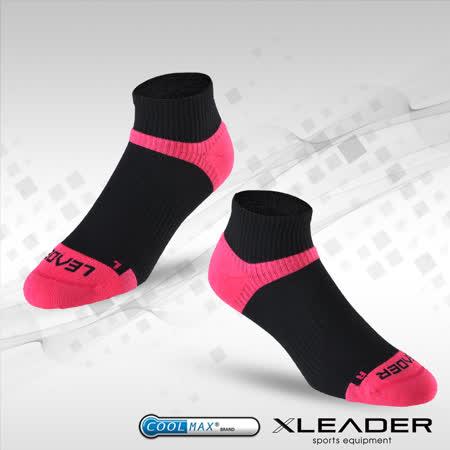 【LEADER】COOLMAX/除臭/女款機能運動襪(黑桃)