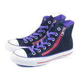 (W系列)CONVERSE Taylor All Star Double Zip 帆布鞋 黑/紫/桃紅-543136C