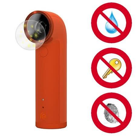 【D&A】 HTC RE 專用日本NEW AS玻璃奈米5H 鏡頭保護貼(超值2入)